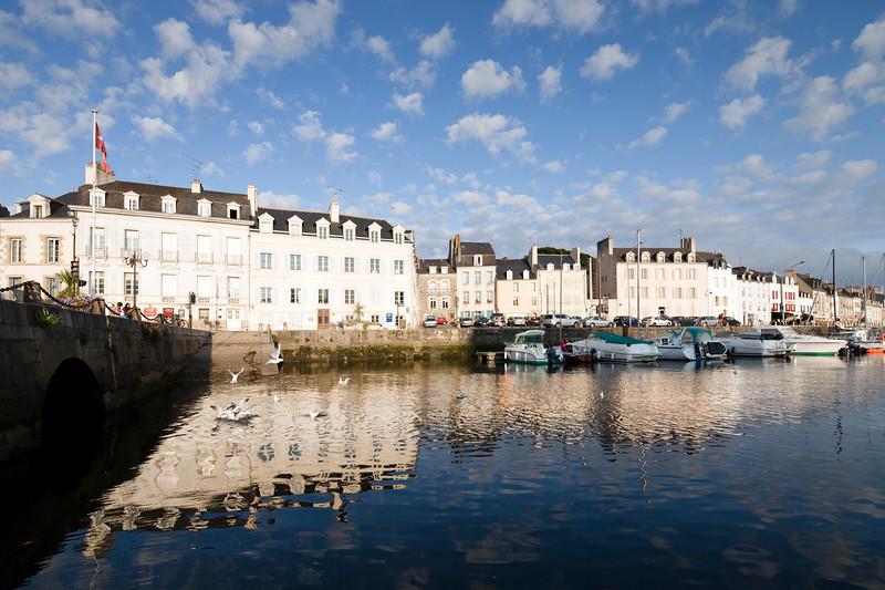 Port of the town of Vannes, departament de Morbihan, Brittany, France