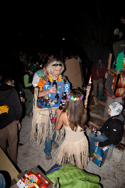 The winner of the costume comp - Tikki Bar - Halloween at Miguels Pizza and Camp Ground