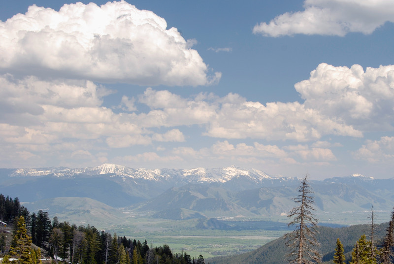 Looking down towards Jackson Hole