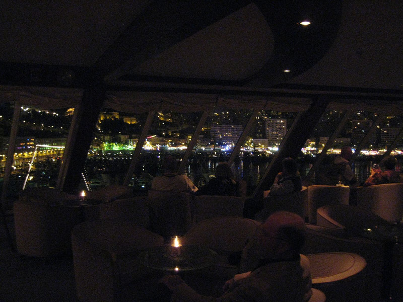 Monte Carlo at night - from the Observation Lounge