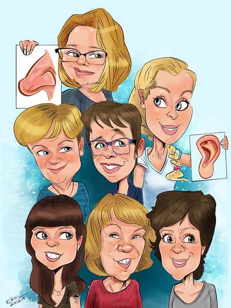 Gruppenbild iPadkarikatur