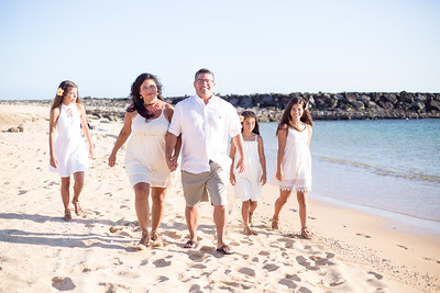Liz and Jason's Family at Magic Island