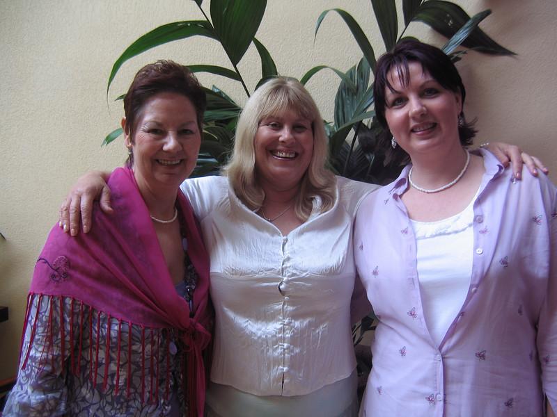 The beauties from the UK - Carol Ann Mercer, Gail, and Julie Ann Jones.