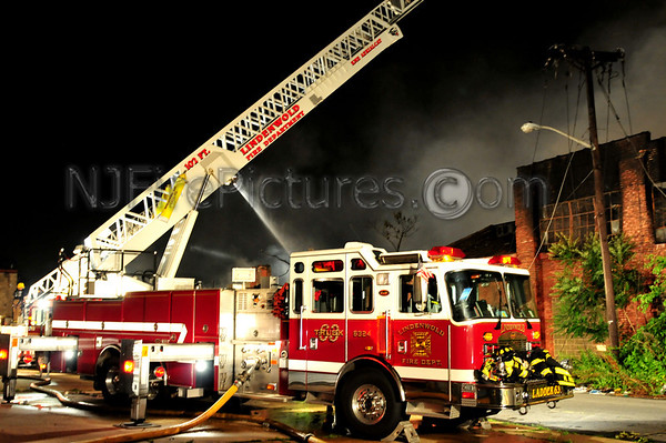CAMDEN, NJ 12-ALARM FIRE at RELIABLE TIRE CHESTNUT AND ORCHARD 6/9/11