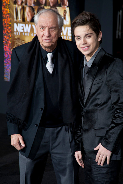 HOLLYWOOD, CA: Director Garry Marshall and actor Jake T. Austin arrive at the Premiere of Warner Bros. Pictures' 'New Year's Eve' at Grauman's Chinese Theatre. Photo taken on Monday, December 5, 2011 by Tom Sorensen/Moovieboy Pictures.
