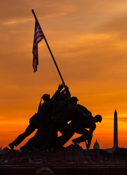 Marine Memorial at Dawn