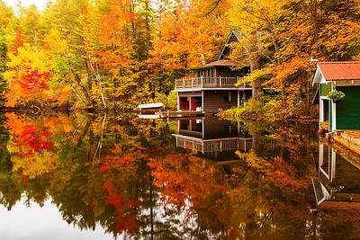 New York, Adirondack, Fall Colors, Lack Placid,  普莱西德湖, 秋色, 纽约州, 阿迪那达克