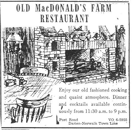 Old MacDonald's Farm Ad-Darien Review, January 14, 1960