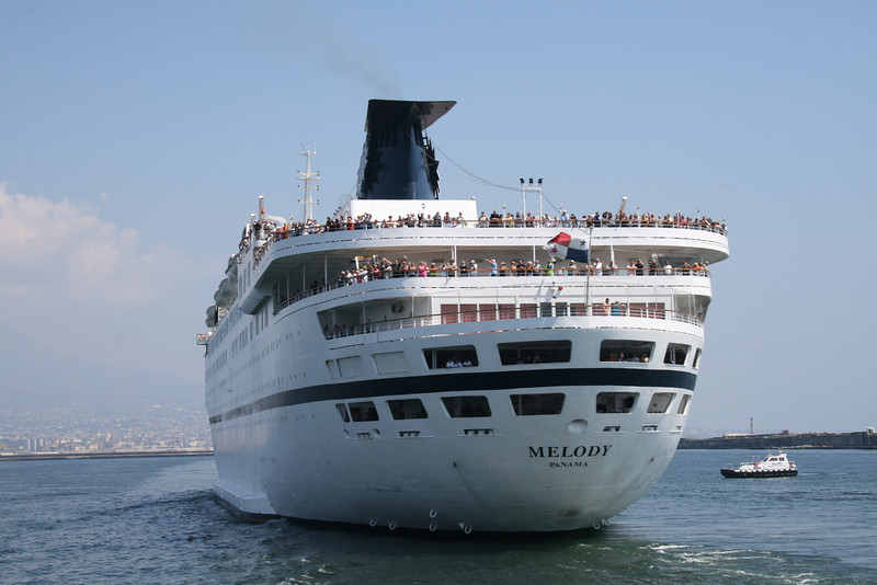 2009 - M/S MELODY departing from Napoli.