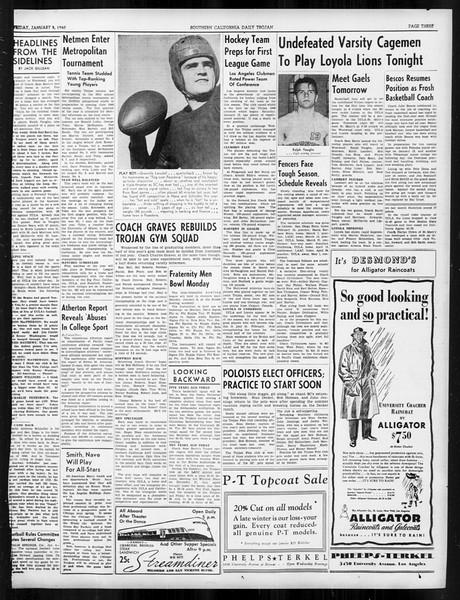 Daily Trojan, Vol. 31, No. 67, January 05, 1940