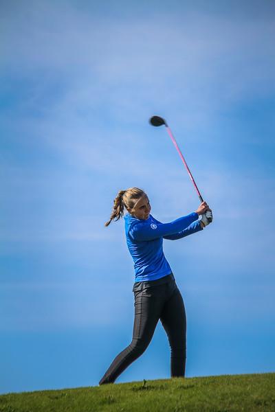 Anna Sólveig Snorradóttir. Íslandsmót golf 2019 Grafarholt - 1. keppnisdagur. Mynd: seth@golf.is