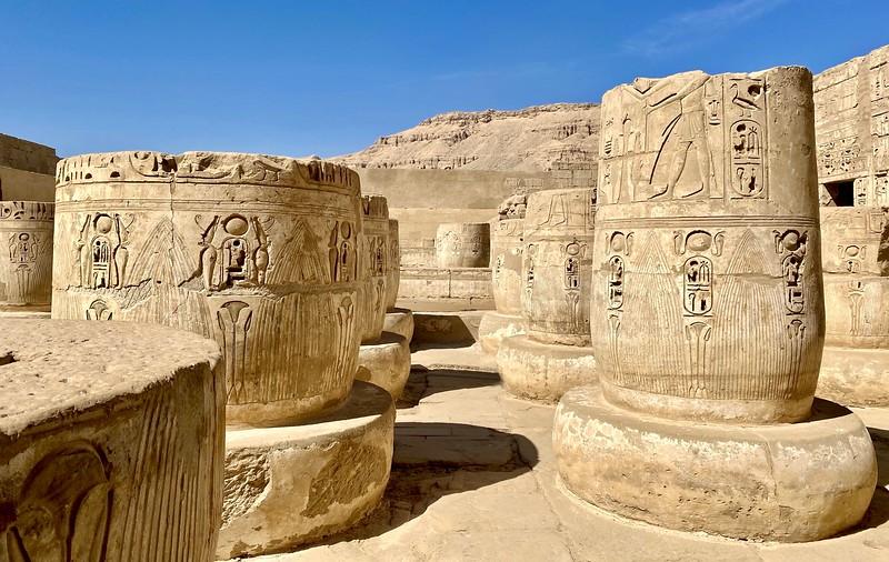 Pillar Bases in the Hypostyle Hall of Medinet Habu