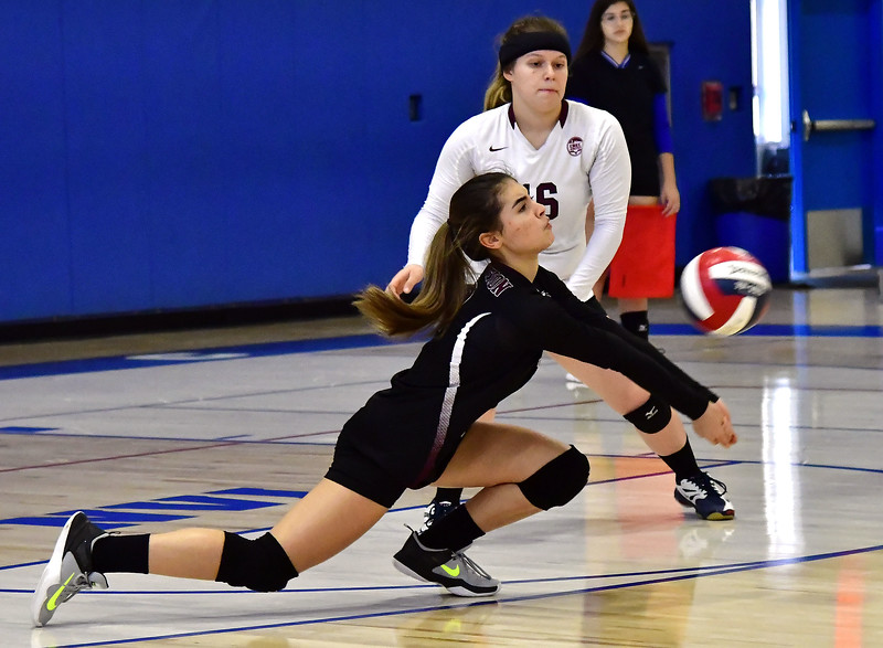 10/24/2018 Mike Orazzi | Staff Innovation's Victoria Merced (2)  during volleyball with St. Paul in Bristol.