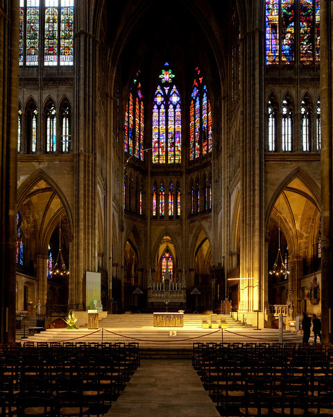 Metz Cathedral of Saint Stephen Crossing and Choir