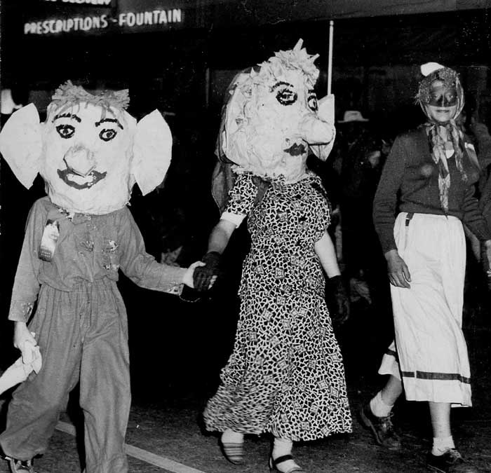 . 1950: Paraders at the Willow Glen Fun Frolic. (San Jose Mercury)