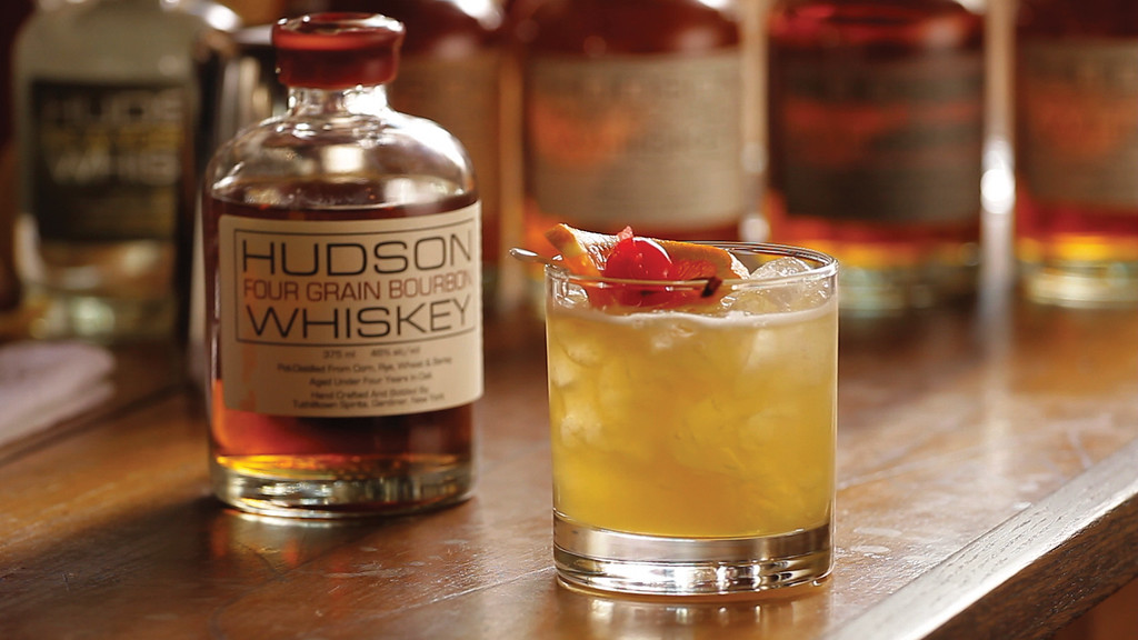 . For National Whiskey Sour Day (Aug. 25), try Hudson�s Four Grain Whiskey Sour, featuring Hudson Whiskey�s Four Grain Bourbon, the first pot-distilled whiskey to be produced in New York�s Hudson Valley since Prohibition. This bourbon is aged in petite new American oak barrels for more wood contact, giving it more depth, character and a warm, soothing finish. www.hudsonwhiskey.com <br>  - 2 parts of Hudson Four Grain Bourbon<br> - ¾ part of fresh lemon juice<br> -¾ part of simple syrup<br> Shake with ice and strained over ice in a rocks glass.