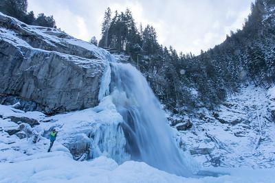 Krimmler Wasserfälle im Winter 01/2021