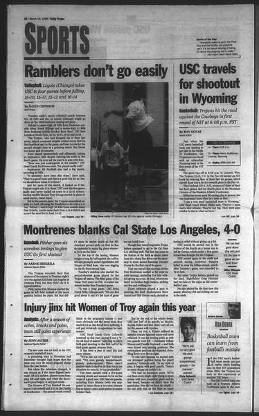 Daily Trojan, Vol. 136, No. 36, March 10, 1999
