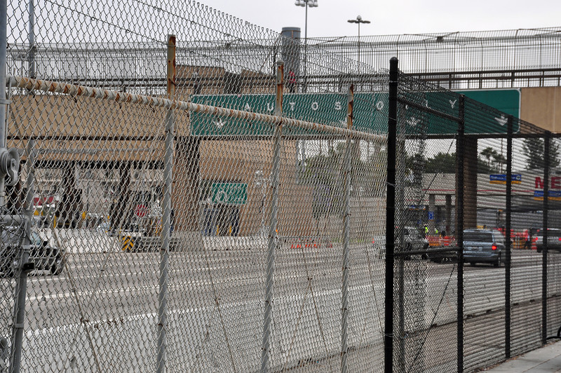 After a night in San Diego, I headed to the San Ysidro border crossing.  Inviting.