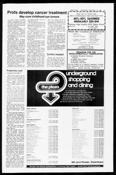 Daily Trojan, Vol. 89, No. 3, September 17, 1980