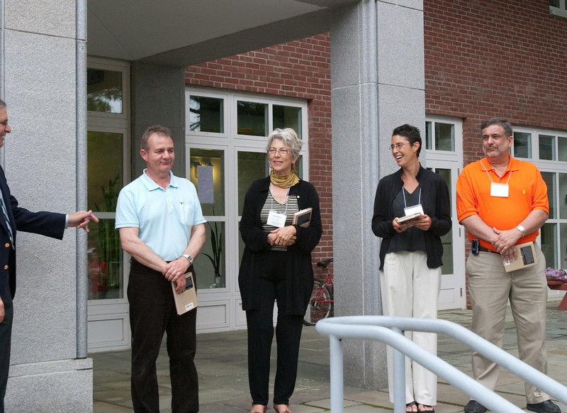 Day 3 - The Education Department reception at Sudikoff Patio - These four teachers were selected from those nominated by members of the class of 2009 as being the most memorable in their experience.  They were invited to the commencement and honored at this reception.