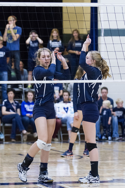 2015-11-04 Hillsdale Academy Varsity Volleyball vs. North Adams