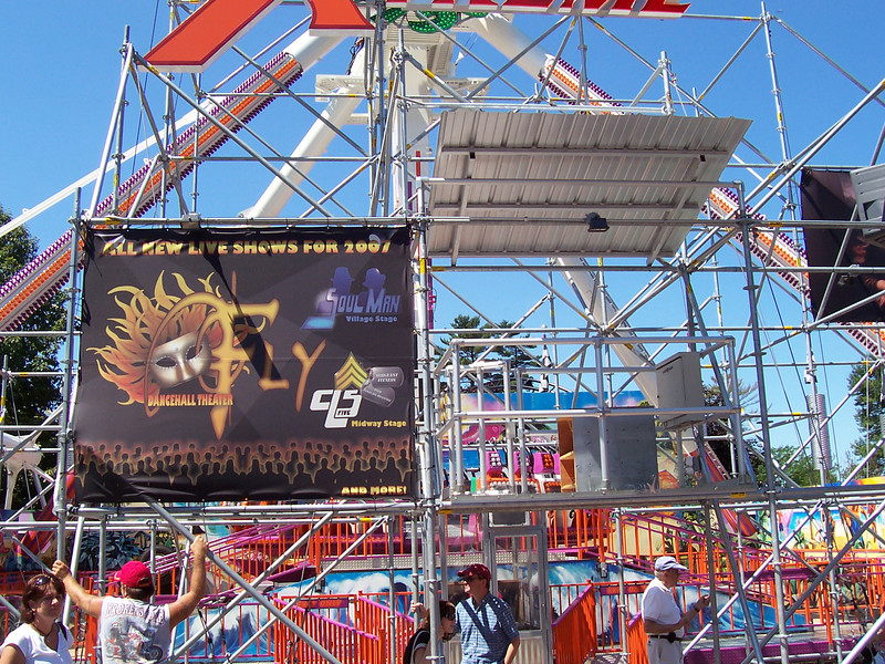 A new banner on the Xtreme Frisbee scaffold.