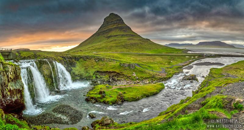 Full View of Kirkjufellsfoss    Photography by Wayne Heim