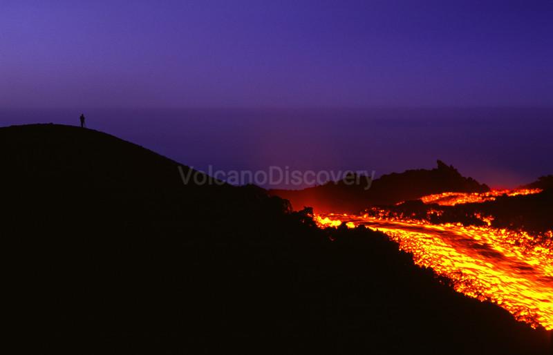 Evening lava flow