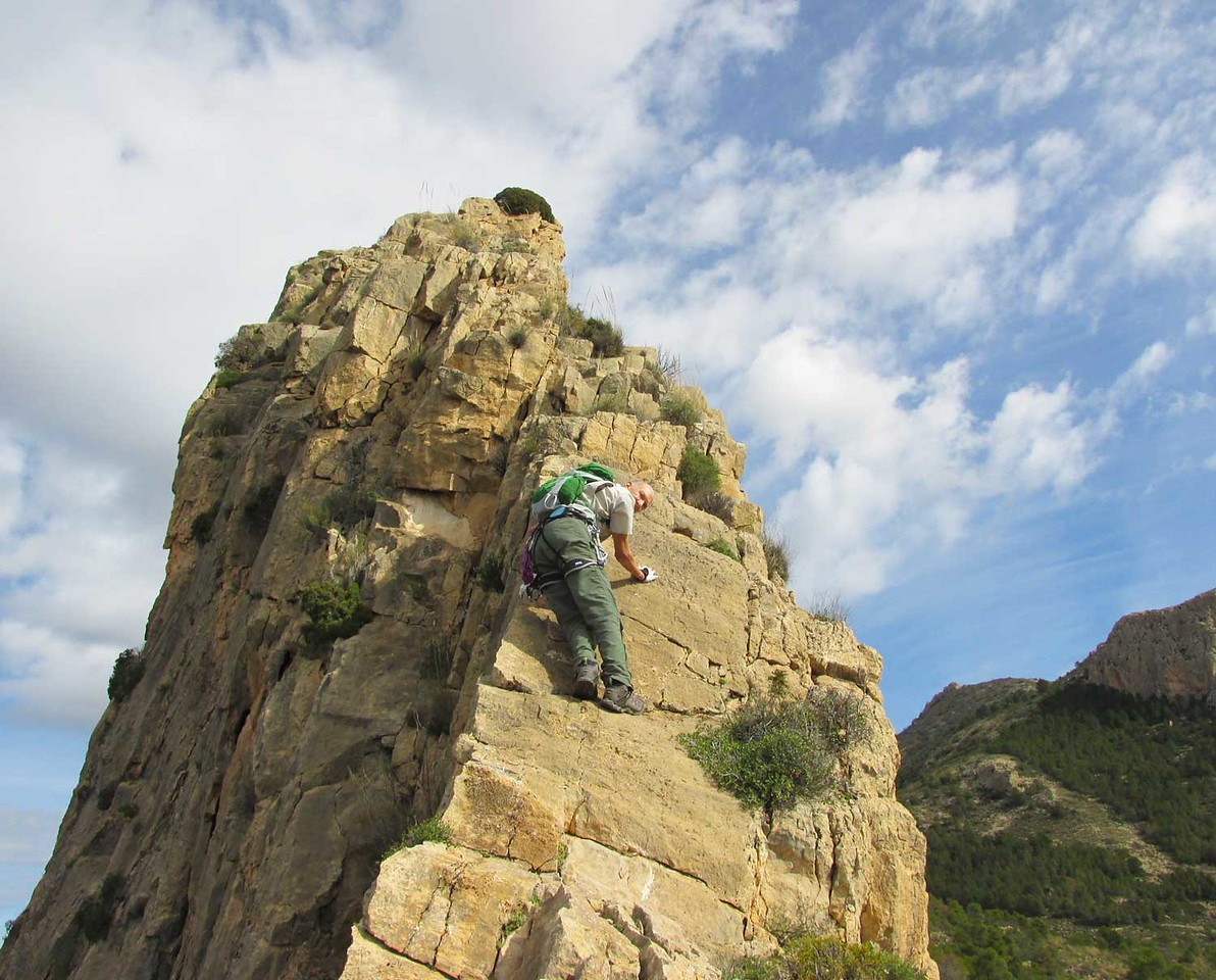 Climbing the Cabezon Ridge at Busot