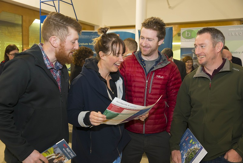 23/02/2016. Free To Use Image. Pictured at WIT (Waterford Institute Of Technology) Adult Learner Information Evening are Ronan O'Keefe, Waterford, Mary Butler New Zealand, Paul Norris and Stephen Sullivan from Waterford. Picture: Patrick Browne