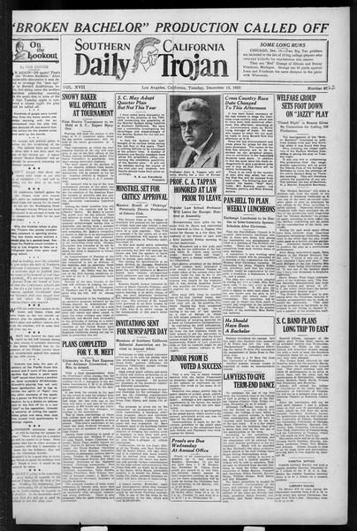 Daily Trojan, Vol. 17, No. 62, December 15, 1925