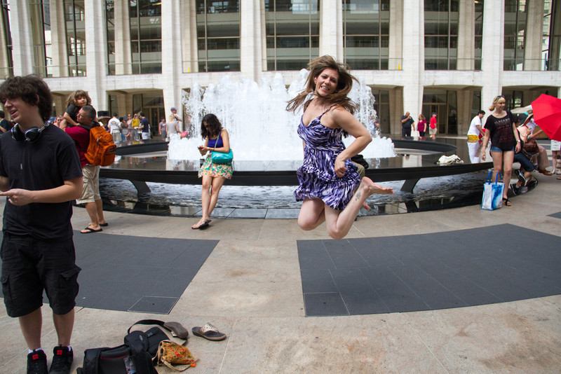 Lincoln Center Fountain Jump