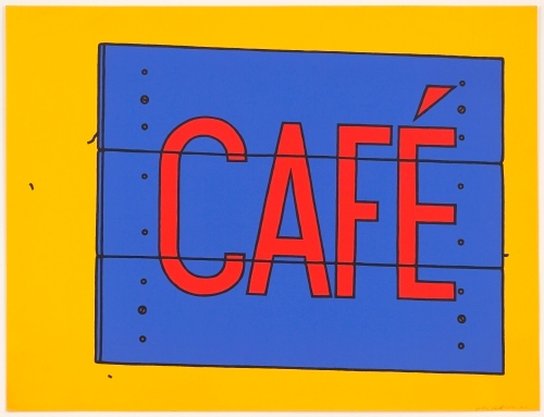 "Patrick Caulfield, ""Cafe"" Sign (1968)"