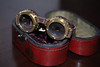 Titanium Goggles : Titanium and Brass Photochromatic, Variable-Aperture Goggles