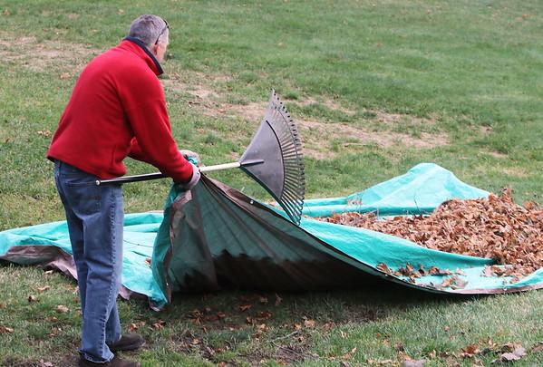 Leaf raking in Littleton 120420