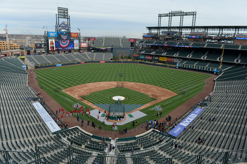 . The Colorado Rockies hosted the Arizona Diamondbacks in the Rockies season home opener at Coors Field in Denver, Colorado Friday, April 4, 2014. (Photo by Craig F. Walker/The Denver Post)