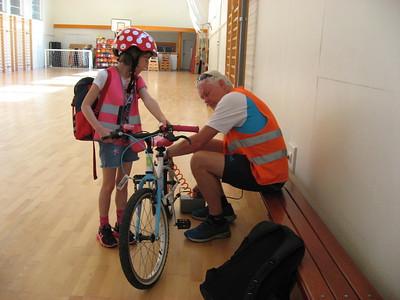 sportdag (fietstocht)  juni eerste en tweede leerjaar