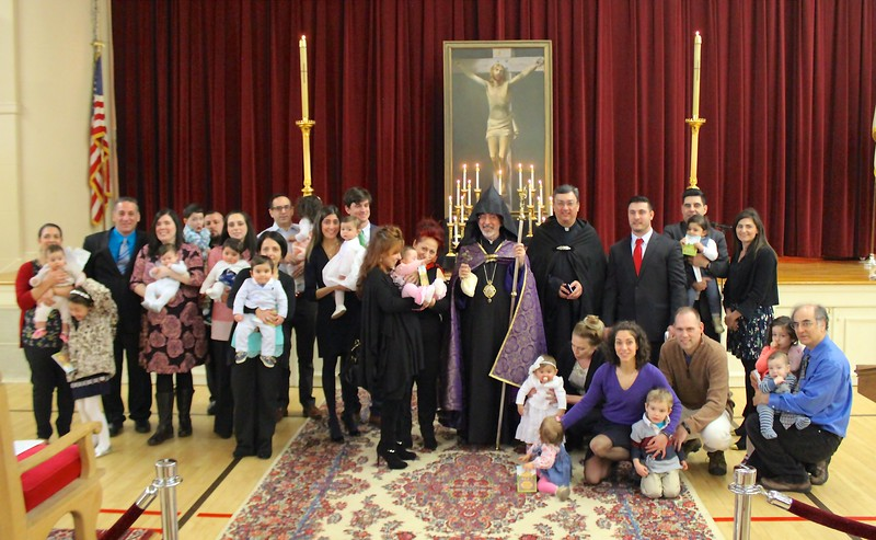 The Primate presided over the Blessing of the Babies' Service following the Divine Liturgy on Sunday morning, March 19.