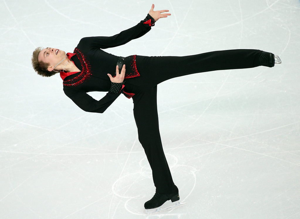 . Michal Brezina of the Czech Republic performs during the Men\'s Short Program of the Figure Skating event at the Iceberg Palace during the Sochi 2014 Olympic Games, Sochi, Russia, 13 February 2014.  EPA/HOW HWEE YOUNG
