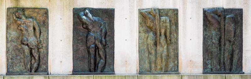 Back I, 1909.   Back II, 1913.   Back III, 1916-7.   Back III, 1930.  Henri Matisse