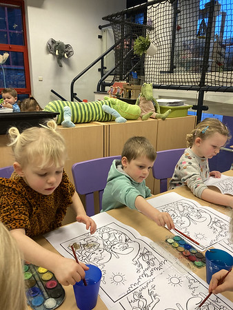 Groep 2 eerste week nieuwe kindjes