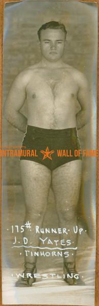 WRESTLING Heavyweight Runner-up  Tinhorns  J. D. Yates (175 lbs)
