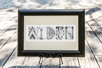 4x6 White Distressed Letters