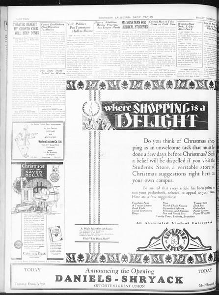 Daily Trojan, Vol. 22, No. 57, December 05, 1930