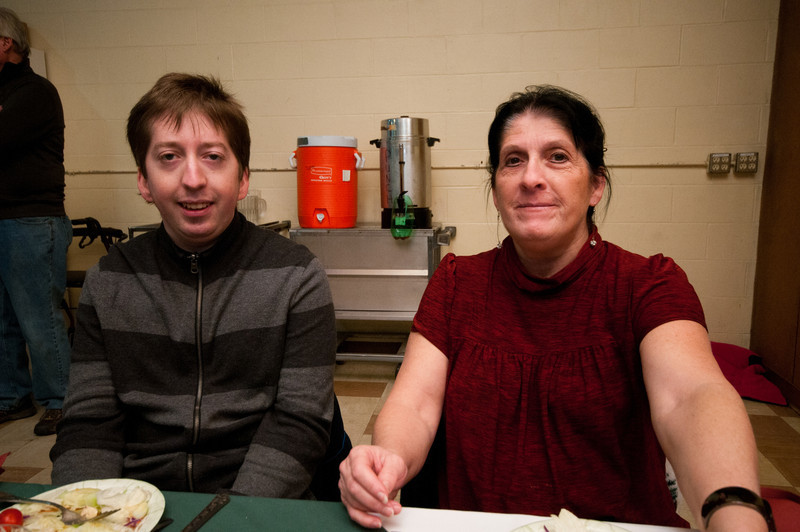 Coincidentally, we sat with these folks at Thanksgiving, which was a separate community supper at a separate church.
