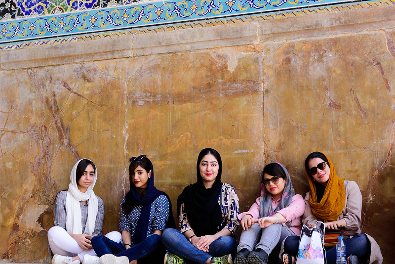 Chilling out in front of the mosque, Isfahan