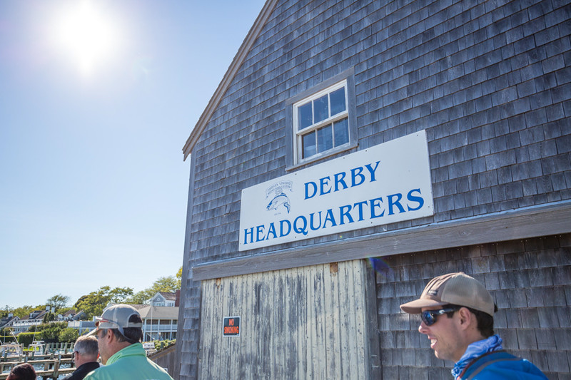 Checking in at Derby HQ. Chasing Martha's Vineyard False Albacore During the MV Derby