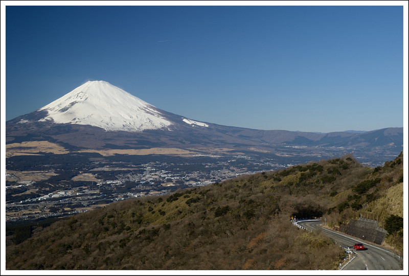 Another view of Fuji and the Hakone Skyline Drive