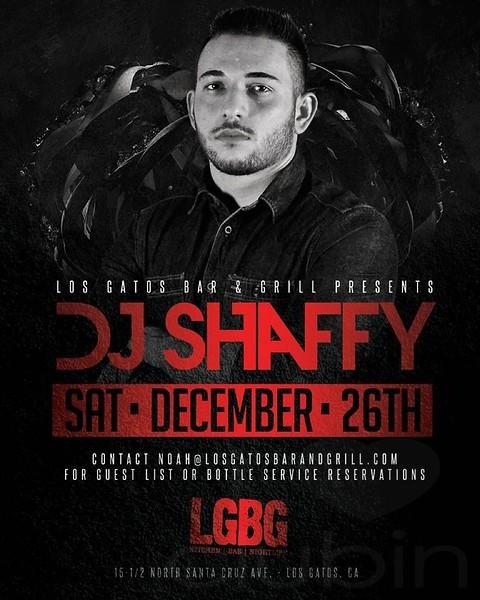 FOUNDATION FRIDAYS W/ DJ SHAFFY @ LGBG 12.26.15
